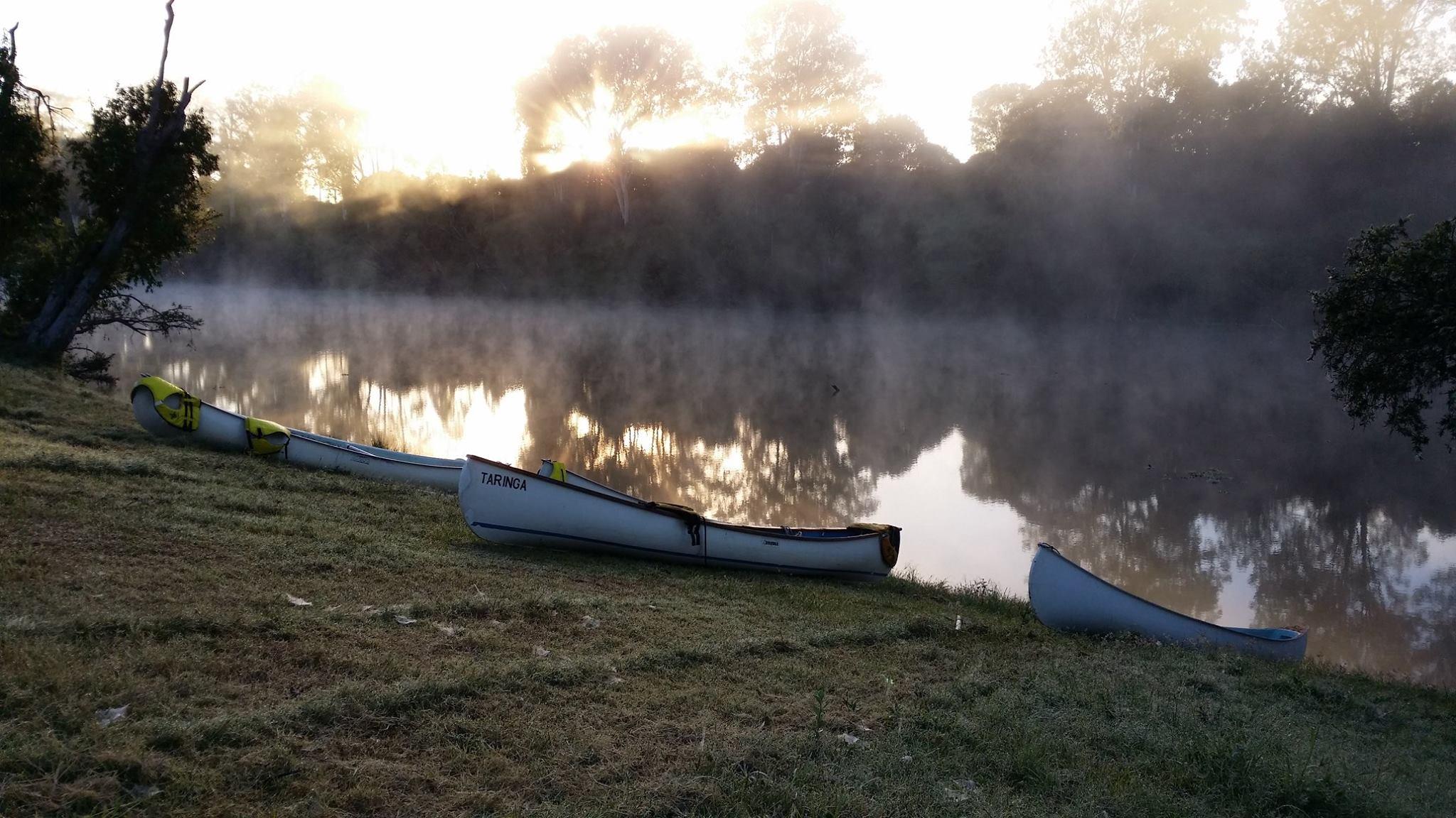 ... mist on Brisbane River near Fernvale – Taringa Milton Toowong Scouts