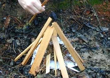 teepee campfire